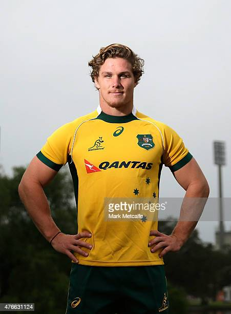 Michael Hooper poses during a press conference announcing his resigning with the Wallabies at Kippax Oval at Kippax Lake on June 11 2015 in Sydney...
