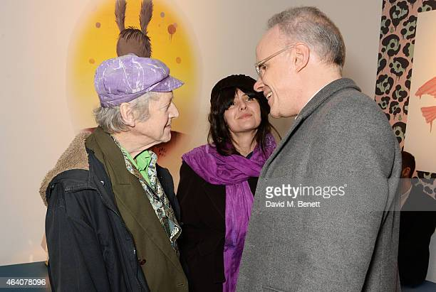 Michael Horovitz Vanessa Vie and Hans Ulrich Obrist attend the Coach X Serpentine The Future Contemporaries Party at The Serpentine Sackler Gallery...