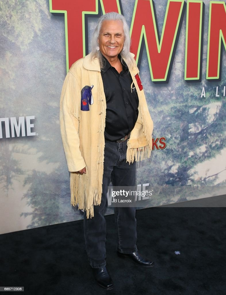 Michael Horse attends the premiere of Showtime's 'Twin Peaks' at The Theatre at Ace Hotel on May 19, 2017 in Los Angeles, California.