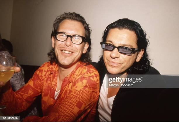 Michael Hutchence and Kirk Pengilly of INXS in Sydney Australia 1996