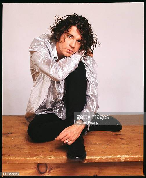 Michael Hutchence of INXS studio portrait London 1990