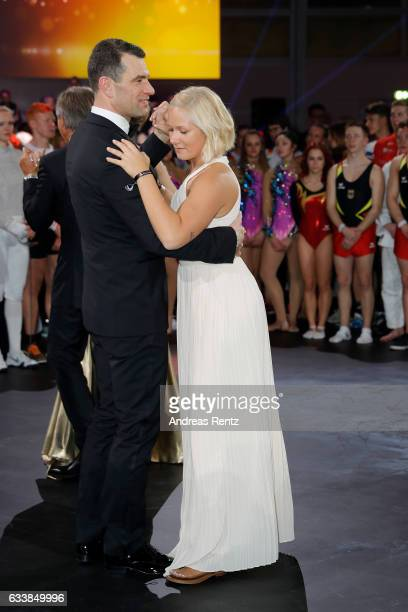 Michael Ilgner and Vanessa Low dance during the German Sports Gala 'Ball des Sports 2017' on February 4 2017 in Wiesbaden Germany