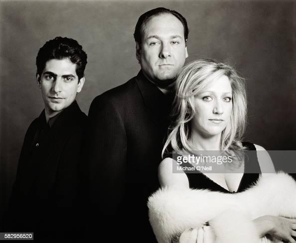 Michael Imperioli James Gandolfini and Edie Falco of The Sopranos