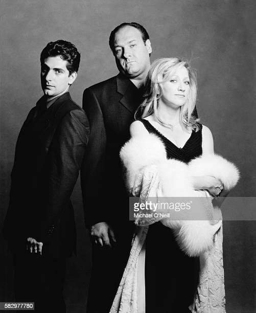 Michael Imperioli, James Gandolfini and Edie Falco of The Sopranos