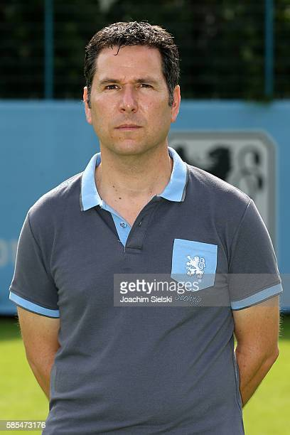 Michael Indinger poses during the official team presentation of TSV 1860 Muenchen at Trainingsgelaende on July 22 2016 in Munich Germany