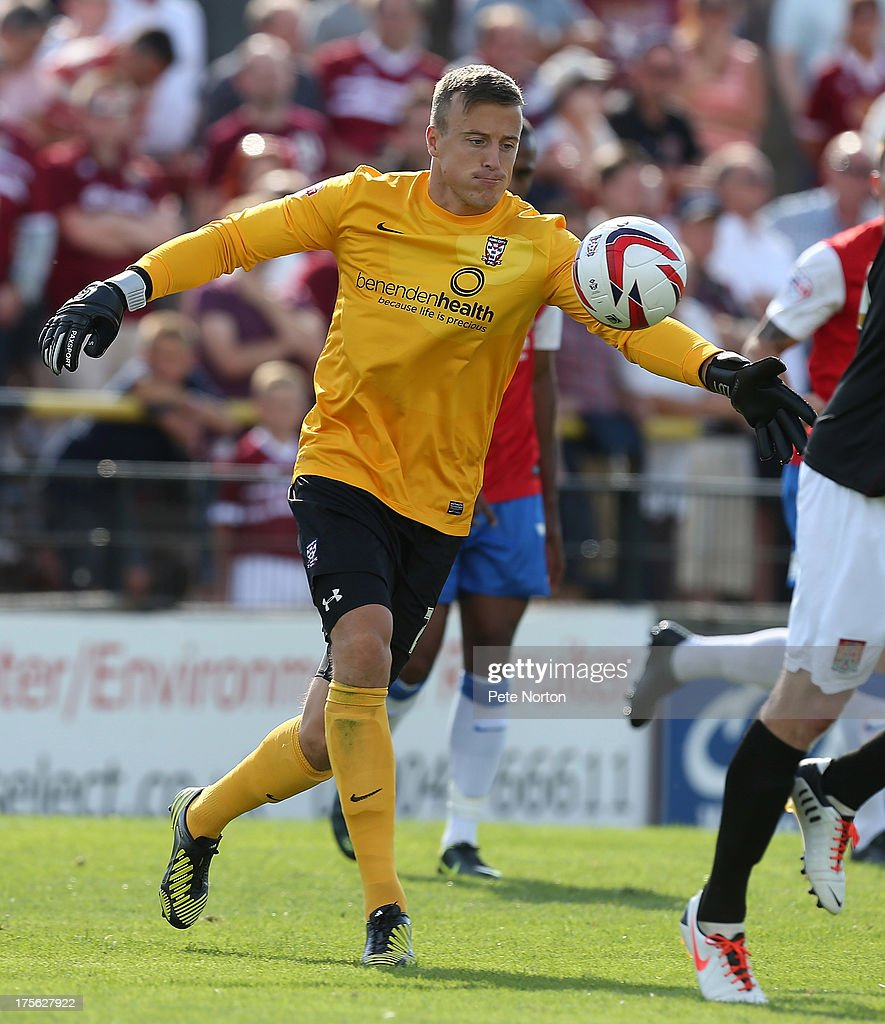 Michael Ingham of York City in action during the Sky Bet League Two match between York City and Northampton Town at Bootham Crescent on August 3, 2013 in York, England.