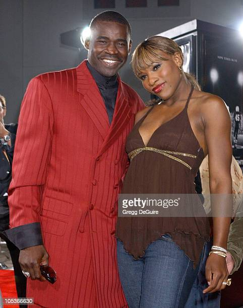 Michael Irvin and Serena Williams during 'Friday Night Lights' Los Angeles Premiere Arrivals at Grauman's Chinese Theatre in Hollywood California...