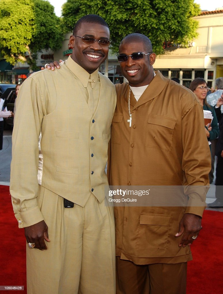 <a gi-track='captionPersonalityLinkClicked' href=/galleries/search?phrase=Michael+Irvin&family=editorial&specificpeople=218074 ng-click='$event.stopPropagation()'>Michael Irvin</a> & <a gi-track='captionPersonalityLinkClicked' href=/galleries/search?phrase=Deion+Sanders&family=editorial&specificpeople=202222 ng-click='$event.stopPropagation()'>Deion Sanders</a> during 'K-19: The Widowmaker' Premiere at Mann Village Theatre in Westwood, California, United States.