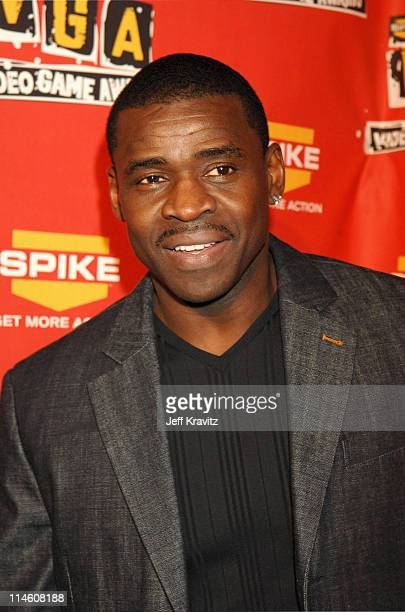 Michael Irvin during Spike TV's 2006 Video Game Awards Hosted By Samuel L Jackson Red Carpet at The Galen Center in Los Angeles California United...