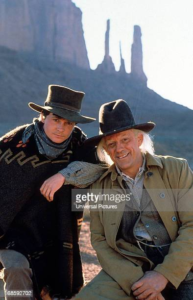 Michael J Fox and Christopher Lloyd in a scene from the film 'Back to the Future Part III' 1990