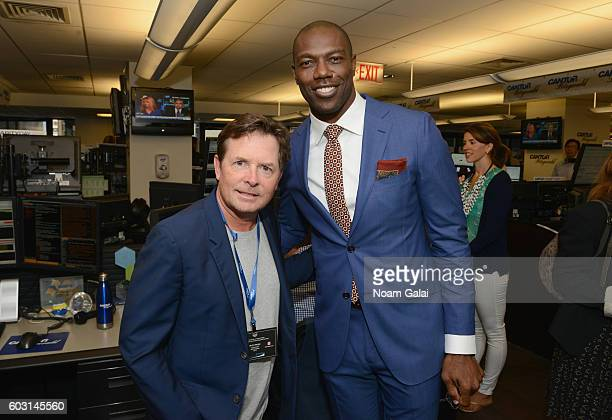 Michael J Fox and Terrell Owens attend the Annual Charity Day hosted by Cantor Fitzgerald BGC and GFI at Cantor Fitzgerald on September 12 2016 in...