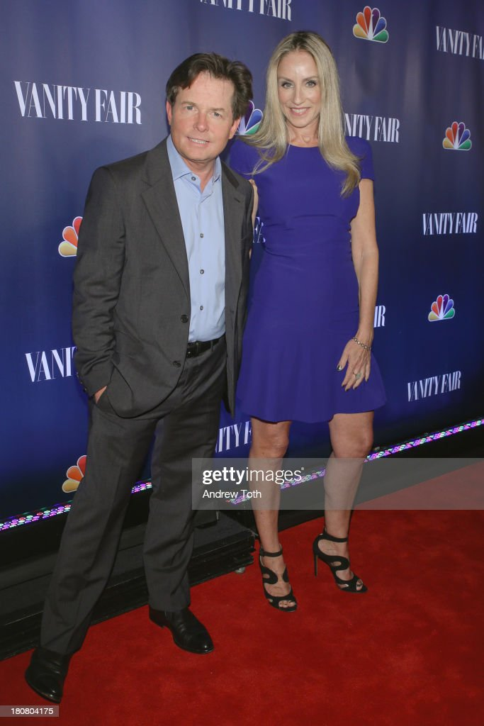 <a gi-track='captionPersonalityLinkClicked' href=/galleries/search?phrase=Michael+J.+Fox&family=editorial&specificpeople=208846 ng-click='$event.stopPropagation()'>Michael J. Fox</a> and Tracey Pollan attend the NBC's 2013 Fall Launch Party hosted by Vanity Fair at The Standard Hotel on September 16, 2013 in New York City.