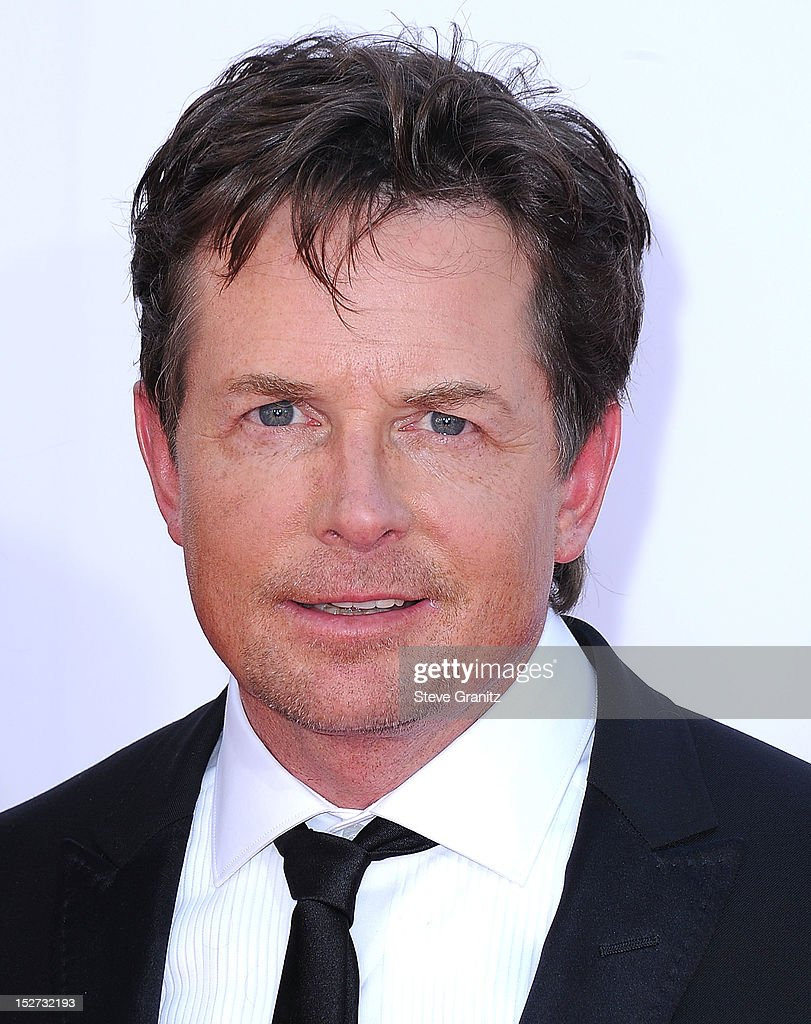 Michael J. Fox arrives at the 64th Primetime Emmy Awards at Nokia Theatre L.A. Live on September 23, 2012 in Los Angeles, California.