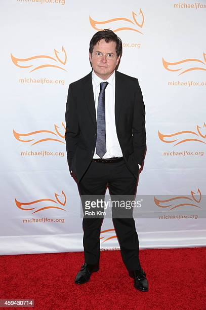 Michael J Fox attends '2014 A Funny Thing Happened On The Way To Cure Parkinson's' event at The Waldorf=Astoria on November 22 2014 in New York City