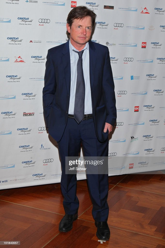 <a gi-track='captionPersonalityLinkClicked' href=/galleries/search?phrase=Michael+J.+Fox&family=editorial&specificpeople=208846 ng-click='$event.stopPropagation()'>Michael J. Fox</a> attends Annual Charity Day Hosted By Cantor Fitzgerald And BGC Partners on September 11, 2012 in New York, United States.