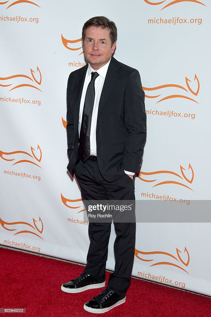 Michael J Fox attends the 2016 A Funny Thing Happened On The Way To Cure Parkinson's at The Waldorf=Astoria on November 12, 2016 in New York City.