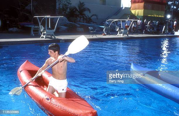 Michael J Fox during Taping of 'Battle of the Network Stars' at Pepperdine University in Malibu California United States