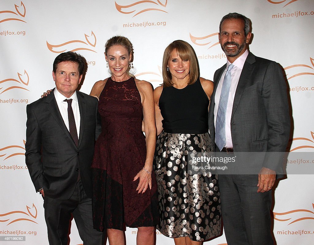 Michael J Fox Tracy Pollan Katie Couric and John Molner attend 2015 A Funny Thing Happened On The Way To Cure Parkinson's at The Waldorf=Astoria on...