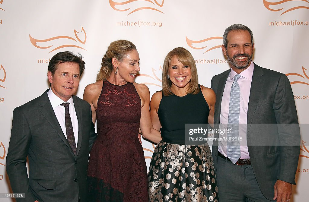 """Michael J Fox Tracy Pollan Katie Couric and John Molner attend the Michael J Fox Foundation """"A Funny Thing Happened On The Way To Cure Parkinson's""""..."""