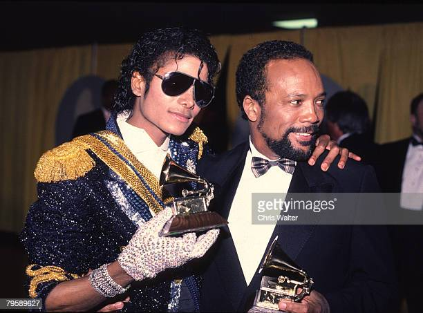 Michael Jackson 1994 Grammy awards with Quincy Jones