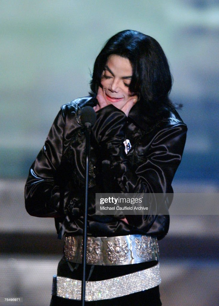 <a gi-track='captionPersonalityLinkClicked' href=/galleries/search?phrase=Michael+Jackson&family=editorial&specificpeople=70011 ng-click='$event.stopPropagation()'>Michael Jackson</a> accepts the Humanitarian Award at the 2003 Radio Music Awards during 2003 Radio Music Awards - Show at the The Aladdin Hotel and Casino in Las Vegas, Nevada.