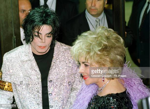 Michael Jackson and Elizabeth Taylor arriving for Michael Jackson's concert at Madison Square Garden in New York City