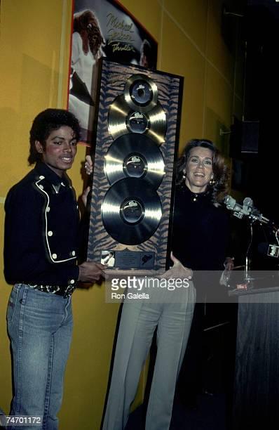 Michael Jackson and Jane Fonda at the CBS Records in Century City California