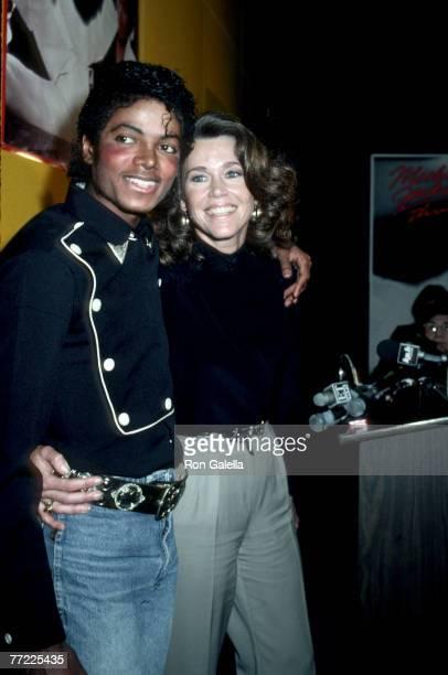 Michael Jackson and Jane Fonda
