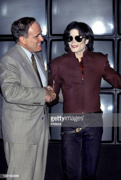 Michael Jackson and New York City Mayor Rudolph Giuliani