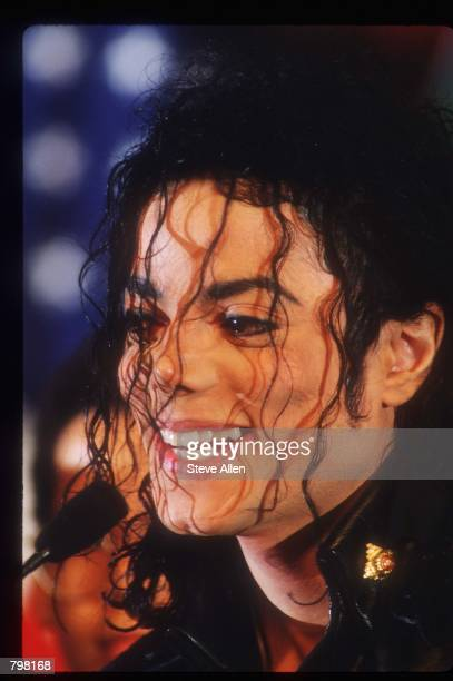 Michael Jackson attends a Pepsi press conference February 3 1992 in New York City Entertainer Jackson accepted the largest individual sponsorship...