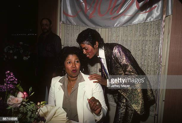 Michael Jackson attends his mother Katherine Jackson's birthday party on May 4 1984 at a private location in Los Angeles California