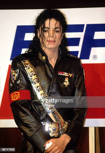 Michael Jackson attends Pepsi press conference on February 3 1992