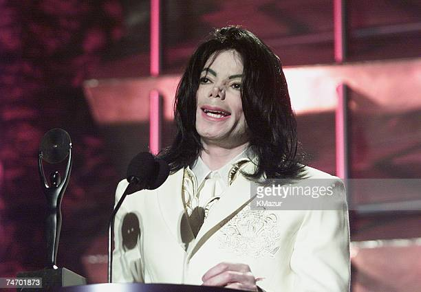 Michael Jackson during The 16th Annual Rock and Roll Hall of Fame Induction Ceremony at the Waldorf Astoria Hotel in New York NY