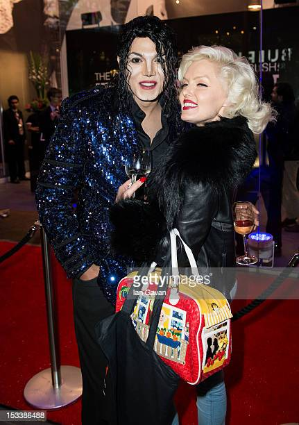 Michael Jackson Impersonator and Navi and Marylin Monroe impersonator Suzie Kennedy attend the VIP Preview of 'The Collection Of Tomkins And Bush...