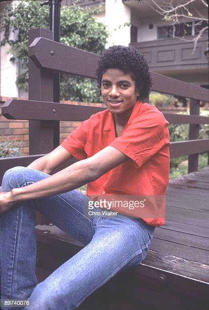 Michael Jackson in 1981 at his condo in Encino CA