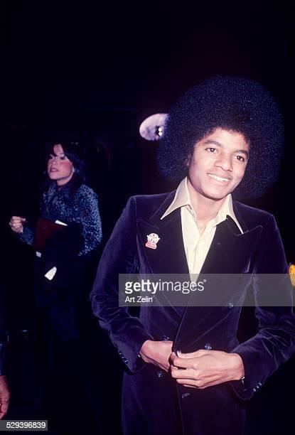 Michael Jackson in a velvet jacket circa 1970 New York