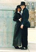 Michael Jackson in Versailles France in 1994 Michael Jackson with Lisa Marie Presley in Versailles