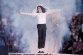 Michael Jackson performs at the Super Bowl XXVII Halftime show at the Rose Bowl on January 31 1993 in Pasadena California