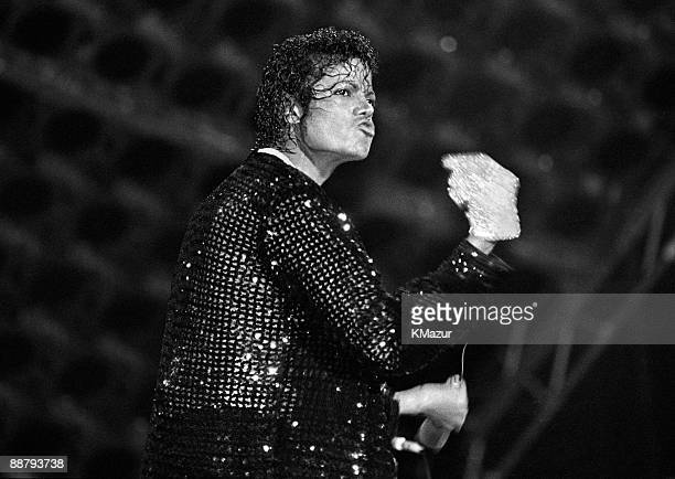 Michael Jackson performs in concert circa 1983