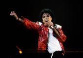 Michael Jackson performs in concert circa 1986