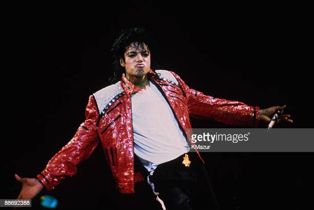 Michael Jackson performs in concert circa 1986