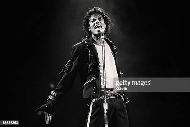 Michael Jackson performs in concert circa 1988