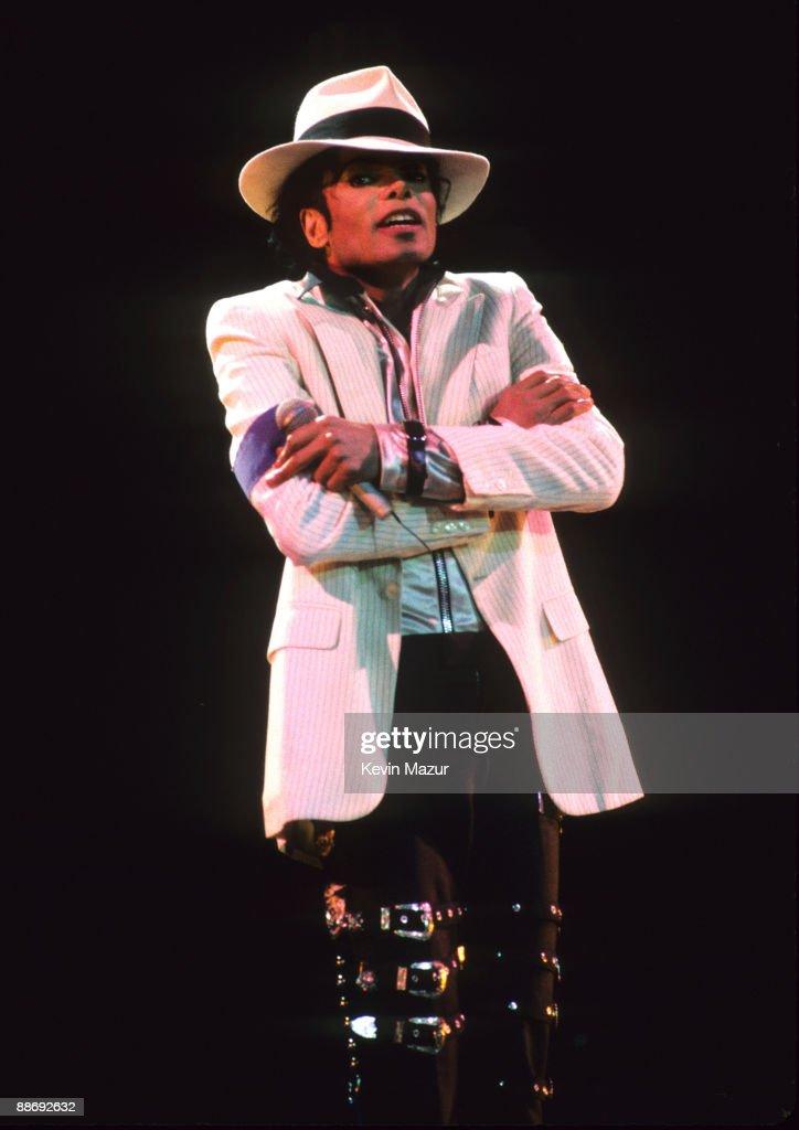 Michael Jackson performs in concert circa 1988.