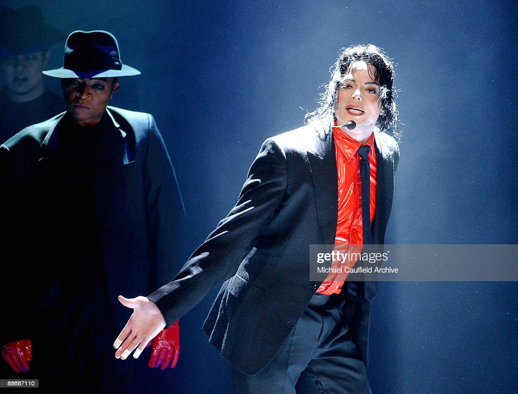 Michael Jackson performs on stage at the taping of the �American Bandstand�s 50th � A Celebration' to air on ABC TV on May 3 2002