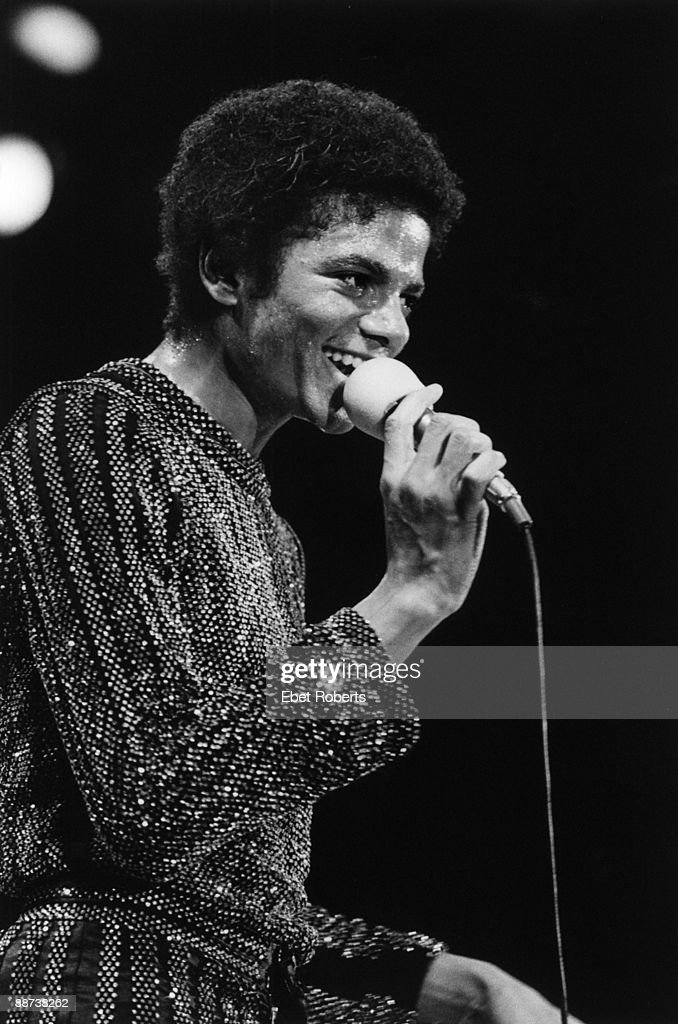 Michael Jackson performs on stage with The Jacksons on the Destiny tour at Nassau Coliseum in Uniondale Rhode Island on November 8 1979