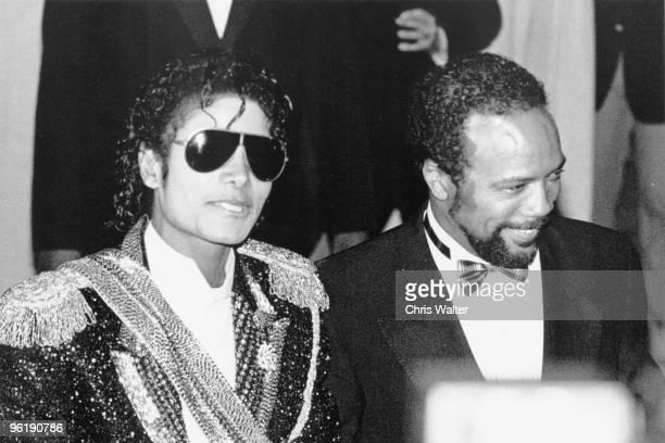 Michael Jackson Quincy Jones 1984 Grammy Awards © Chris Walter