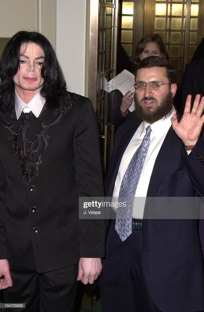 Michael Jackson & Rabbi Shmuley Boteach during Heal The Kids Benefit At Carnegie Hall, 2001 at Carnegie Hall in New York, New York, United States.