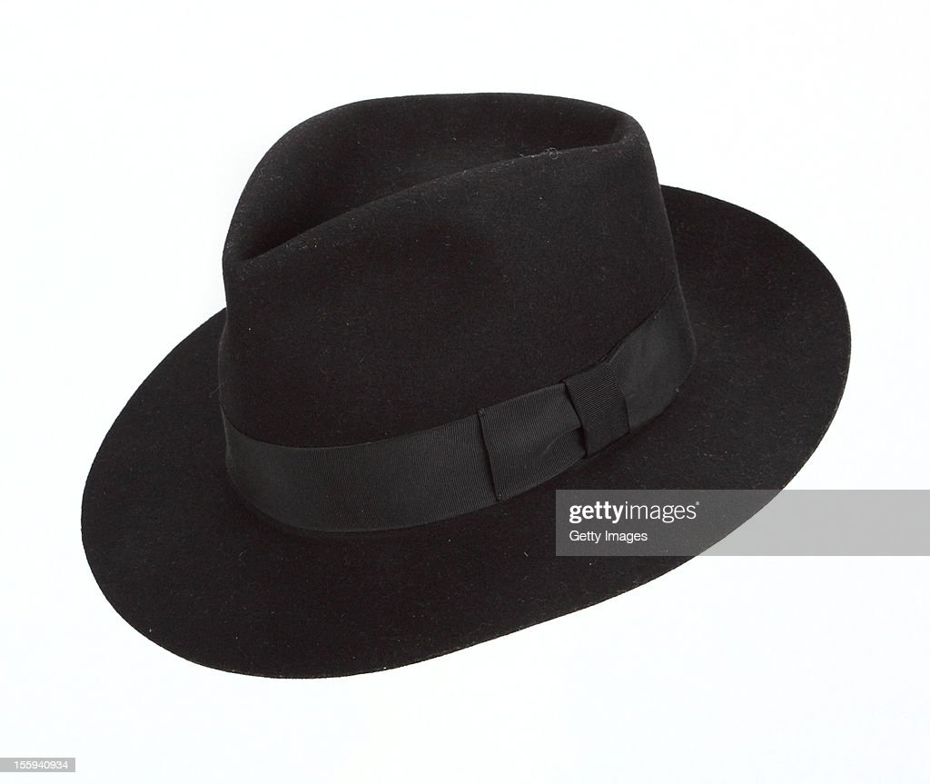 MIchael Jackson Stage Worn Black Fedora Stamped in the interior in gold 'Michael Jackson' The hat was originally a gift from Michael's clothing...