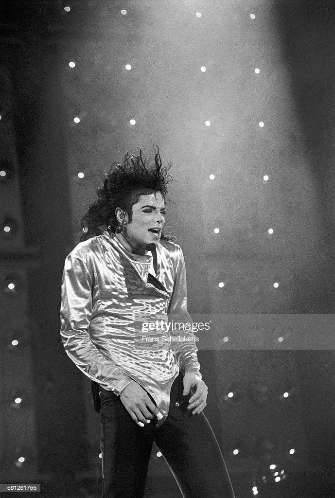 Michael Jackson vocals performs on July 1st 1992 at the Feijenoord Stadium in Rotterdam Netherlands