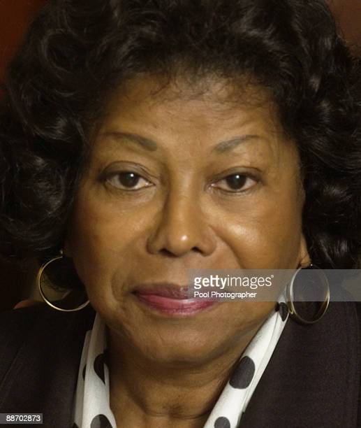 Michael Jackson's mother Katherine Jackson exits the courtroom at the Santa Barbara County courthouse April 28 in Santa Maria California during a...